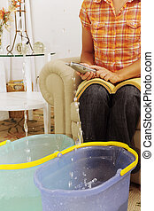 leaking roof or pipe burst - eaking roof or pipe burst:...