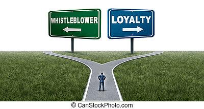 lealtad, whistleblower, o