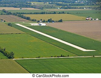 Leamington Ontario, airport aerial