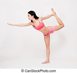 Lean and strong yoga girl.