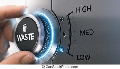 Lean Management, Waste Optimization - Hand turning knob to...