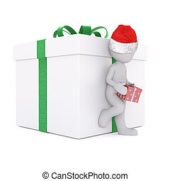 lean on the christmas gift box