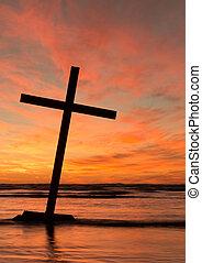 Lean Over Black Cross