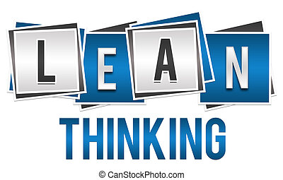 Lean Thinking Blue Silver Blocks - Lean thinking image with...
