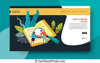 Leaning online distant education web site template - ...