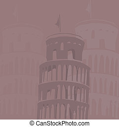 Leaning tower of Pisa background