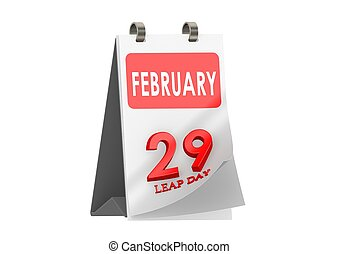 Leap day - Rendered artwork with white background
