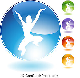 Leaping Dancer Crystal Icon