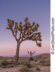 Leaping for Joy Under Joshua Tree