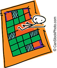 Leaping Out of Circuit Board - Stick figure jumping outside...