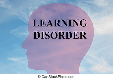 learing disorder concept - Render illustration of learing ...