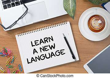 Learn a new language Tablet with blank black screen and...