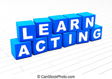 Learn Acting word illustration