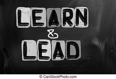 Learn And Lead Concept