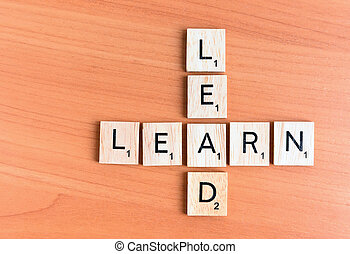 Learn and Lead text
