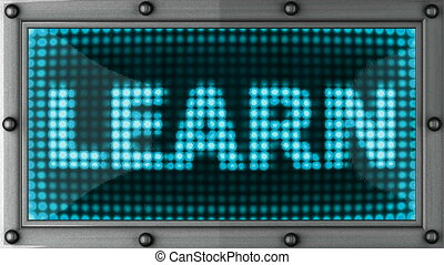 learn  announcement on the LED display