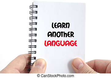 Learn another language text concept
