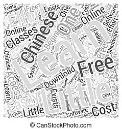 learn chinese free Word Cloud Concept