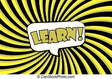 Learn!- Comic sound effects in pop art style