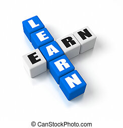 Learn Earn crosswords. Part of a business concepts series.