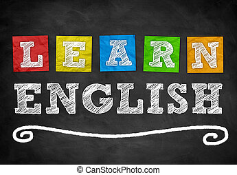 Learn English - background concept