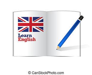 learn english book illustration