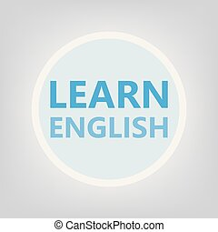 learn english concept- vector illustration