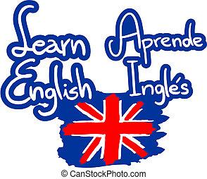 Learn english - Creative design of learn english