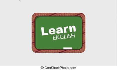 learn english online - chalkboard and words learn english...