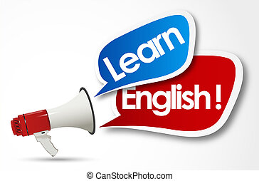 learn English word and megaphone
