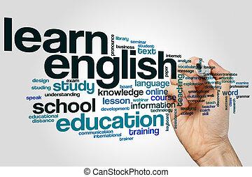 Learn english word cloud
