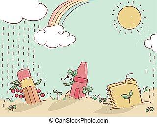 Learn Garden Background Illustration