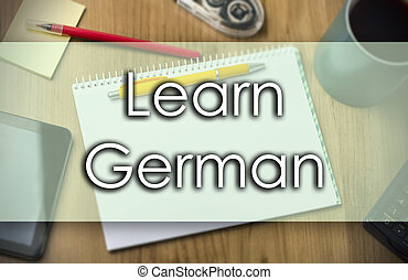 Learn German -  business concept with text