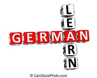 Learn German Crossword