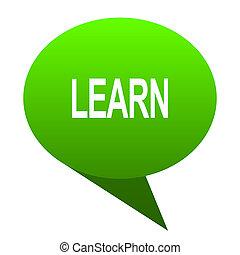 learn green bubble icon