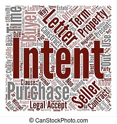 Learn How to Construct a Letter of Intent Word Cloud Concept Text Background