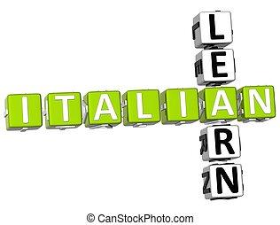Learn Italian Crossword
