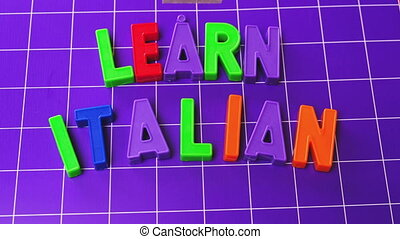 learn italian language alphabet magnets letters - learn...