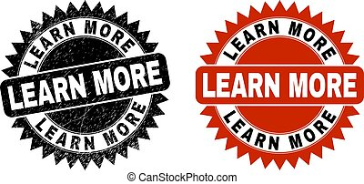 LEARN MORE Black Rosette Watermark with Rubber Style