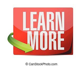 learn more sticker illustration design