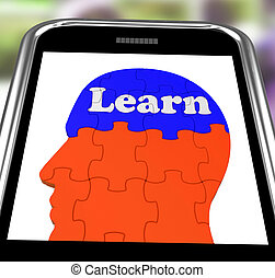 Learn On Brain On Smartphone Showing Human Training