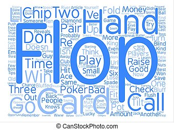 Learn Poker text background word cloud concept