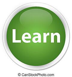 Learn premium soft green round button