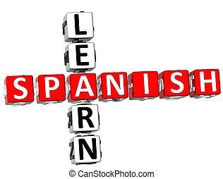Learn Spanish Crossword