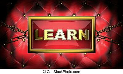 learn  on velvet background