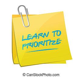 learn to prioritize memo post illustration design