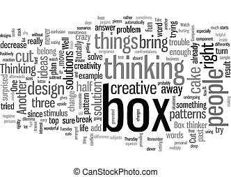 learn to think outside the box dlvy text background wordcloud concept