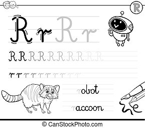 learn to write letter R workbook for kids