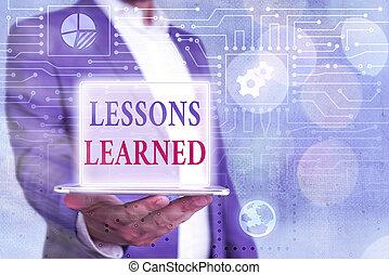 learned., foto, conceptual, activamente, señal, actuación, ...