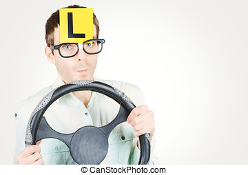 Learner driver at smart driving school